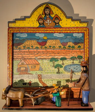 San Isidro_2017_hand carved with natural pigments_30.75x25x9_8k
