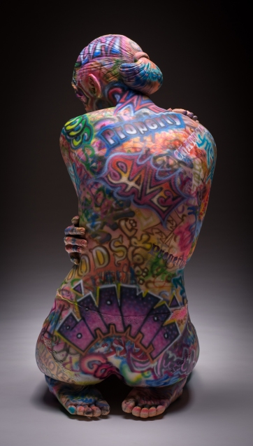 full Back view-Commodity_Life-sized_ Fired clay with acrylic_31x13x24_15k