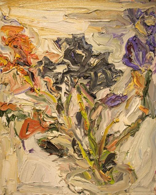 Black Iris 2017, oil on canvas, 20x16